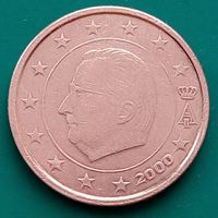 2 цента 2000 БЕЛЬГИЯ
