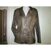 Пиджак кожаный классической модели, р.42