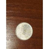 Монета 1пфенниг гдр 1986г
