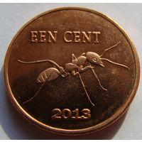 О.Синт-Эстатиус 1 цент 2013 г