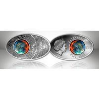 """Фиджи 10 долларов 2012г. """"Календарь Майя"""". Монета в капсуле; сертификат. СЕРЕБРО 20гр."""
