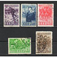 Красная Армия  СССР 1941 год 5 марок
