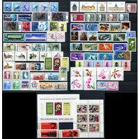 ГДР - 1968г. - Полный годовой набор - MNH [Mi 1335-1433] - 89 марок, 1 сцепка, 1 блок, 1 малый лист