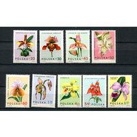 Польша - 1965 - Цветы. Орхидеи - [Mi. 1612-1620] - полная серия - 9 марок. MNH.
