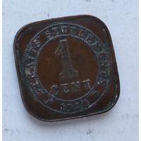 Стрейтс Сетлментс 1 цент, 1920 2-4-23