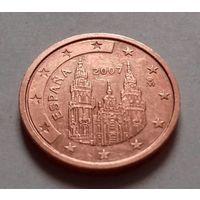 2 евроцента, Испания 2007 г.