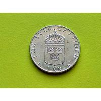 Швеция. 1 крона 1987.