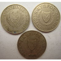 Кипр 5 центов 1983, 1994, 2001 гг. Цена за 1 шт. (g)