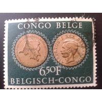 Конго 1954 колония Бельгии юбилейная медаль