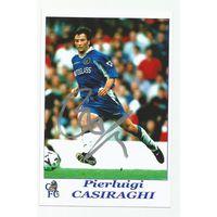 Pierluigi Casiraghi(Chelsea, Англия). Живой автограф на фотографии.