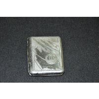 Ведомственный  советский  портсигар  из  алюма  для  работников  космической  отрасли.