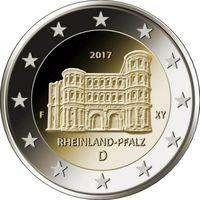 2 евро 2017 Германия J Рейнланд-Пфальц UNC из ролла