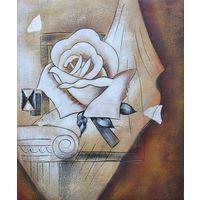 Картина маслом 131 роза 50х60