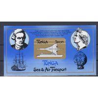 [1612] Тонга 1983. Авиация,флот.Корабли,самолеты. БЛОК.