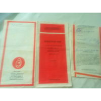 Паспорт от утюга  СССР