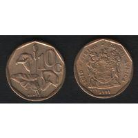 Южная Африка (ЮАР) km135 10 центов 1991 год (b06)