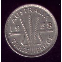3 пенса 1958 год Австралия