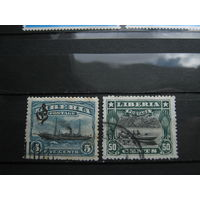 Транспорт, корабли, пароходы, флот, Либерия марки