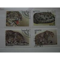 Марки - Киргизия фауна леопард 1994