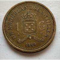 Антильские острова 1 гульден, 1989  1-4-6