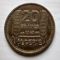 Алжир 20 франков, 1949  2-2-22