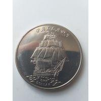 Острова Гилберта 1 доллар 2014 года Паллада