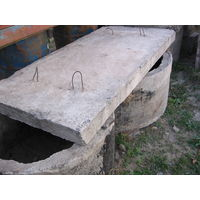 Кольца бетонные с арматурой, нар. диаметр 1,1м, высота 0,55м б/у