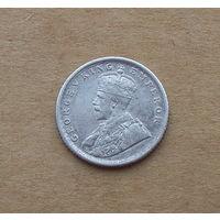 Британская Индия, 1/4 рупии 1917 г., серебро, Георг V (1910-1936)