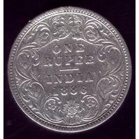 1 Рупия 1886 год Британская Индия