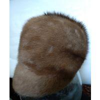 Женская норковая шапка. Размер 10. Цвет орех.
