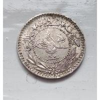 """Османская империя 10 пар, 1327 (1909) """"Reshat"""" справа цифра """"V"""" (7) 5-1-9"""