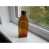 Бутылочка, склянка аптечная с пробкой, 200 мл, СССР