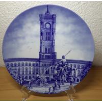Seltmann Weiden.Schwab..Декоративная тарелка.24 см.Berliner Rathaus.1991год