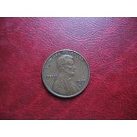 1 цент 1977 год  США D