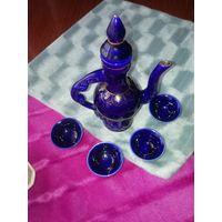 Керамический набор для водки Архи. Кобальт. Монголия, 80-90-е  г.г.