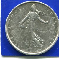 Франция 5 франков 1962 , серебро