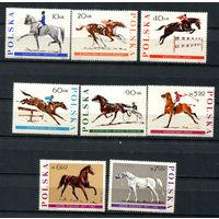 Польша - 1967 - Лошади - [Mi. 1740-1747] - полная серия - 8 марок. MNH.