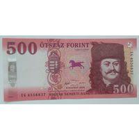 Венгрия 500 форинтов 2018 года UNC