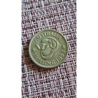 Австралия 1 шиллинг 1953 г