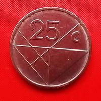 39-25 Аруба, 25 центов 2012 г. Единственное предложение монеты данного типа на АУ
