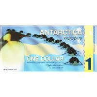 Антарктика 1 доллар 2011 год UNC  распродажа