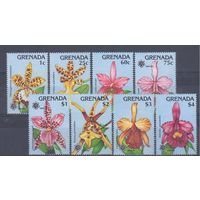 [1528] Гренада 1990. Флора.Цветы.Орхидеи.