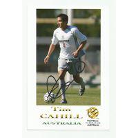 Tim Cahill(Австралия). Живой автограф на фотографии.