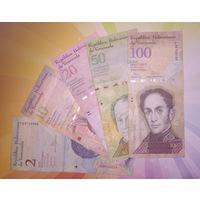 Венесуэла набор 2.10.20.50.100 боливар