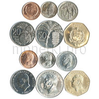 Самоа 6 монет 2000-2002 годов. Флора