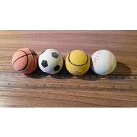 Игрушка для кошек/собак (набор мячиков - 4 шт.)