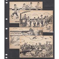 Солдаты Полевая почта Финляндия 1939 - 1944 ВОВ ВМВ Набор 4 открытки чистые