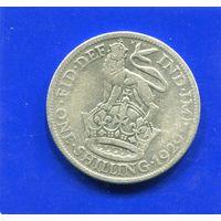 Великобритания 1 шиллинг 1929, серебро, Georg V