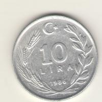 10 лир 1986 г.