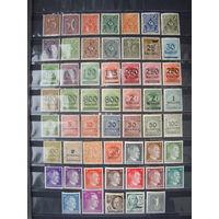 Распродажа - %! Германия. Веймарская республика, Рейх. 1921-1923, 1941 гг. (50+ марок. Чистые MNH ** +MH). Клей в люксе!